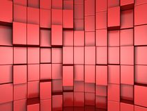 fond 3d abstrait rouge des cubes Photo stock