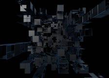 Fond 3D abstrait d'une forme des cubes illustration de vecteur