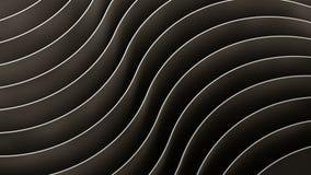 fond 3d abstrait Vagues et courbes de noir illustration libre de droits