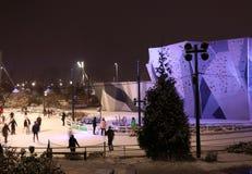 Fond d'activité en plein air d'hiver, concept actif de mode de vie image stock