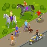 Fond d'activités en plein air illustration libre de droits