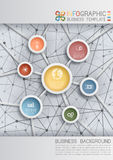 Fond d'affaires avec le réseau Photo stock