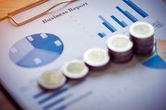Fond d'affaires, concept d'analyse des marchés Photos libres de droits