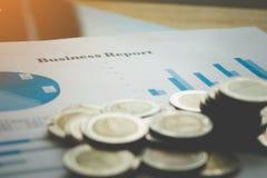 Fond d'affaires, concept d'analyse des marchés Photographie stock