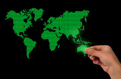 Fond d'affaires de carte du monde de point illustration stock