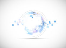 Fond d'affaires de concept de nouvelle technologie d'ordinateur d'infini Image stock