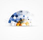 Fond d'affaires de concept de nouvelle technologie d'ordinateur d'infini Image libre de droits