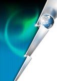 Fond d'affaires de foudre en métal Images libres de droits