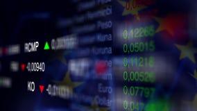 Fond d'affaires de marché boursier avec le drapeau d'UE illustration de vecteur