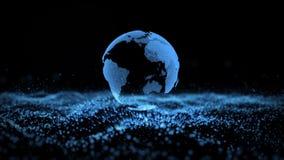 Fond d'affaires de particules de paysage de la terre banque de vidéos