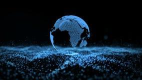 Fond d'affaires de particules de paysage de la terre photographie stock