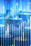 Fond d'affaires des marchés globaux Photos stock