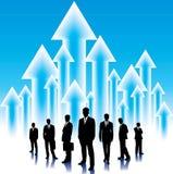 Fond d'affaires globales avec des flèches illustration libre de droits