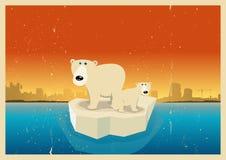 Fond d'affiche de conséquences de réchauffement global illustration libre de droits