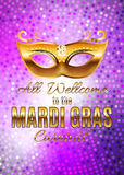 Fond d'affiche de Mardi Gras Party Mask Holiday Illustra de vecteur Image stock