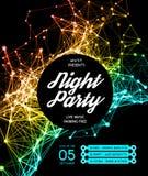Fond d'affiche de partie de disco de nuit Images libres de droits