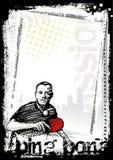 Fond d'affiche de ping-pong illustration libre de droits