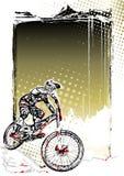 Fond d'affiche de vélo de montagne illustration de vecteur