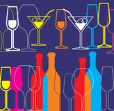 Fond d'alcool Photo stock