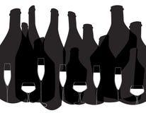 Fond d'alcool en verre Images stock