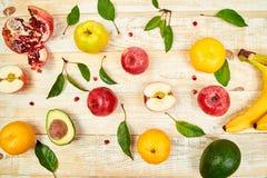 Fond d'aliment biologique Sélection saine de nourriture, consommation propre photos libres de droits