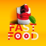Fond d'aliments de préparation rapide de mot Images stock