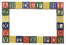 Fond d'alphabet Photographie stock libre de droits