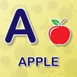 Fond d'alphabet d'Apple Photo libre de droits
