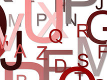 Fond d'alphabets Photo stock