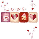 Fond d'amour illustration de vecteur