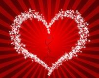 Fond d'amour avec des rayons illustration de vecteur