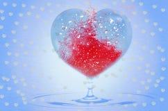 Fond d'amour avec le coeur pour le jour de valentines Photos stock
