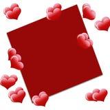 Fond d'amour avec le plsce pour le texte illustration de vecteur