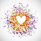 Fond d'amour d'arc-en-ciel Images libres de droits