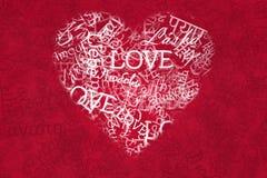 Fond d'amour dans diverses langues Images libres de droits