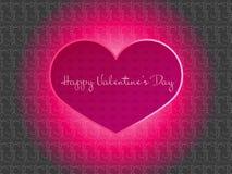 Fond d'amour de coeur de jour de valentines Photo libre de droits