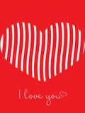 Fond d'amour de coeur de jour de valentines Photo stock