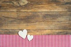 Fond d'amour de deux coeurs Photographie stock libre de droits