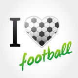 Fond d'amour du football Image stock