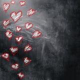Fond d'amour et de coeurs Images libres de droits