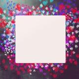 Fond d'amour et de coeurs Image stock