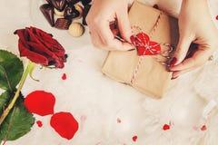 Fond d'amour Jour du `s de Valentine Photos libres de droits