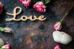 Fond d'amour pour la célébration de Saint-Valentin Images libres de droits