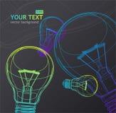Fond d'ampoule de vecteur Image stock