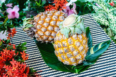 Fond d'ananas photographie stock
