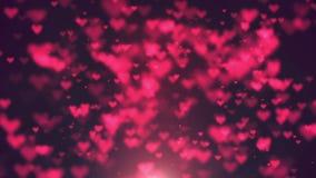 Fond d'animation de boucle de coeurs brouillé par résumé illustration de vecteur