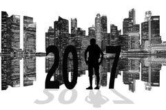 Fond 2017 d'année d'actualités Photos libres de droits