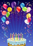 Fond d'anniversaire Photo stock