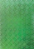 Fond d'antiquité en verre souillé de vert photographie stock libre de droits