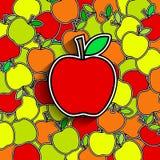Fond d'Apple Photo libre de droits